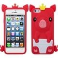 BasAcc Red Crown Piggie Pastel Skin Case for Apple iPhone 5