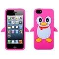 BasAcc Hot Pink Penguin Pastel Skin Case for Apple� iPhone 5
