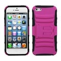 BasAcc Hot Pink/ Black Armor Stand Case for Apple� iPhone 5