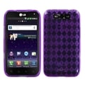 BasAcc Purple Argyle Candy Case for LG MS840 Connect 4G/ LS840 Viper