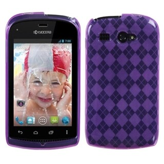 BasAcc Purple Argyle Candy Skin Case for Kyocera C5170 Hydro