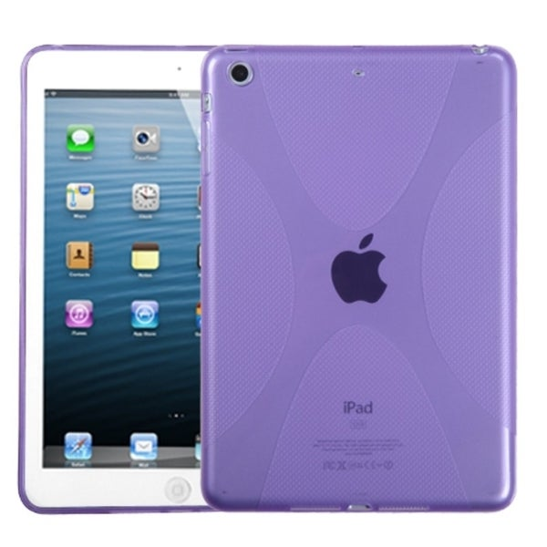 INSTEN Purple X-shape Candy Skin Tablet Case Cover for Apple iPad Mini
