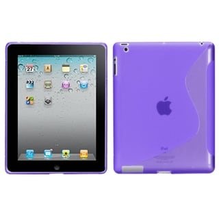 BasAcc Purple S-shape Case for Apple iPad 4