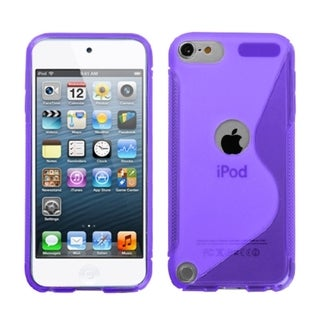 BasAcc Purple S-shape Candy Skin Case for Apple iPod touch