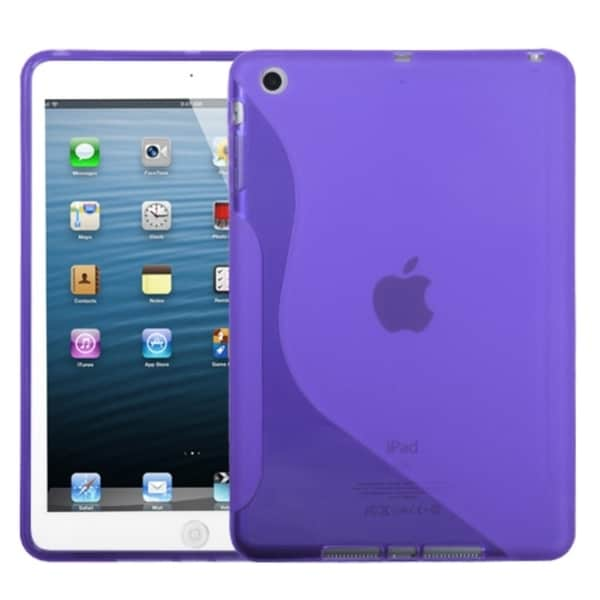 INSTEN Purple S-shape Candy Skin Tablet Case Cover for Apple iPad Mini