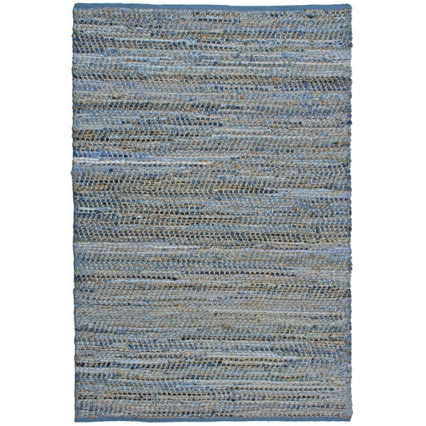 Blue jeans hand woven denim hemp area rug 9 39 x 12 for Living room rugs 9x12