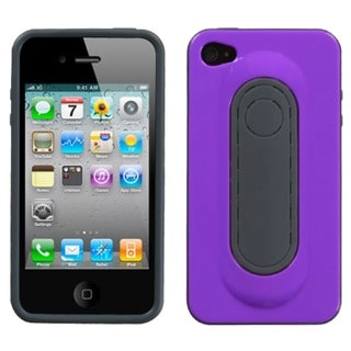 BasAcc Purple Snap Tail Stand Case for Apple iPhone 4S/ 4