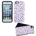 BasAcc Purple Mixed Polka Dots Fusion Case for Apple iPhone 5