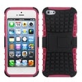 BasAcc Black/ Hot Pink Rubber Armor Stand Case for Apple� iPhone 5
