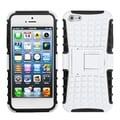 BasAcc White/ Black Rubber Armor Stand Case for Apple� iPhone 5