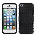 BasAcc Black/ Black Rubber Armor Stand Case for Apple� iPhone 5