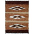 Hand-woven Matador Brown Leather Rug (10' x 14')