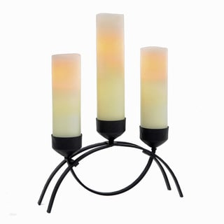 CandleTEK Decor Mission Flameless 3-candle Centerpiece with Timer