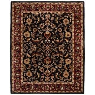 Safavieh Hand-made Heritage Black/ Red Wool Rug (11' x 15')