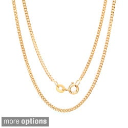 Sterling Essentials 14k Yellow Gold over Silver 18-inch Pendant Chain