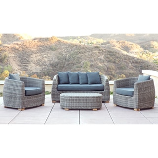 Abbyson Living 'Hazda' 4-piece Cushioned Patio Set