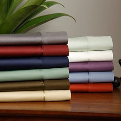 Moments Pima 300TC Sheet Sets Cotton Deep Pocket Stretch Fit Sheet Set