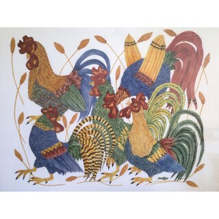 Proud Fools' Rooster Lithograph Print
