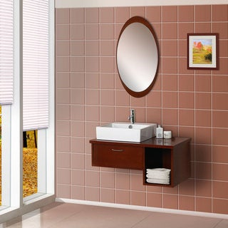 DreamLine Wall-Mounted Modern Wooden Bathroom Vanity Set