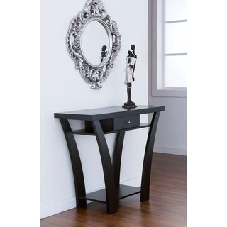Shinway Modern Black Finish Console Table