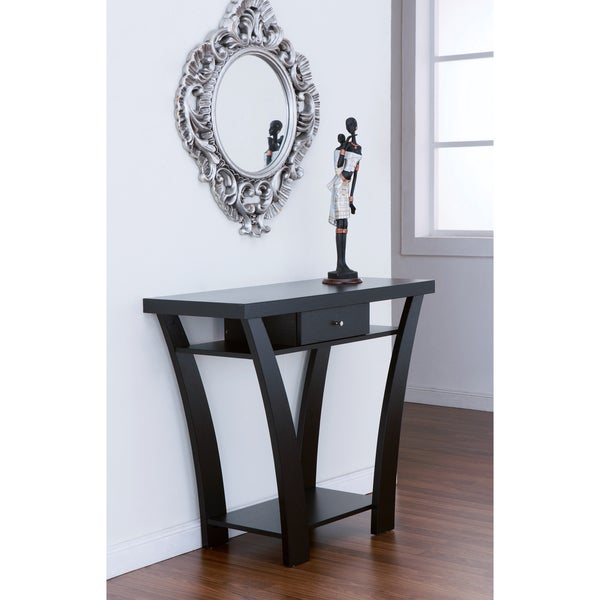 Furniture of America Shinway Modern Black Finish Console Table ...