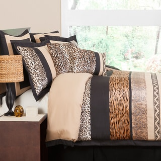Lush Decor Tribal Dance 8-piece Brown Comforter Set