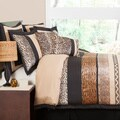 Lush Decor Tribal Dance 8-piece Brown Comforter Set