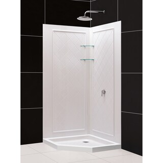SlimLine 36 x 36-inch Neo Shower Base and QWALL-4 Shower Backwalls Kit