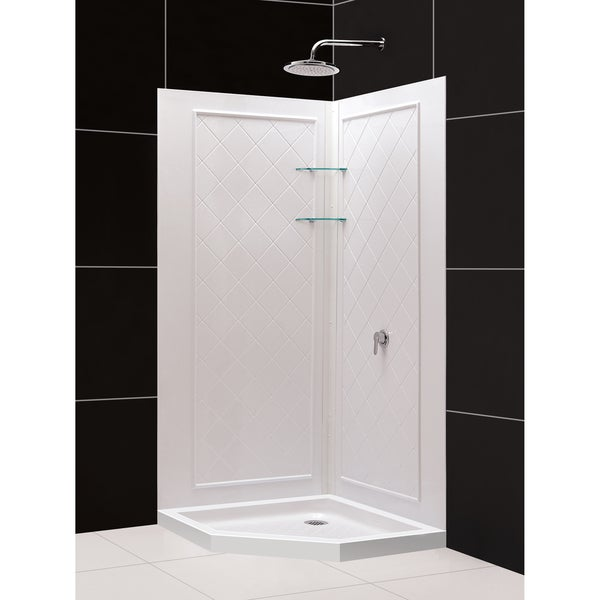 SlimLine 36 X 36 Inch Neo Shower Base And QWALL 4 Shower