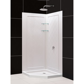 SlimLine 38 x 38-inch Neo Shower Tray and QWALL-4 Shower Backwalls Kit