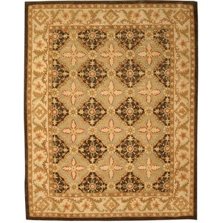 Hand Tufted Twisted Wool Brown Khyber Rug (8'9 x 11'9)