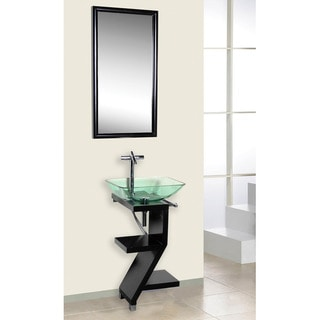 DreamLine Black Wood Base Petite Powder Room Vanity