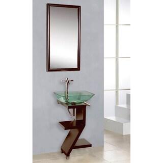 DreamLine Mahogany Veneer Petite Powder Room Vanity