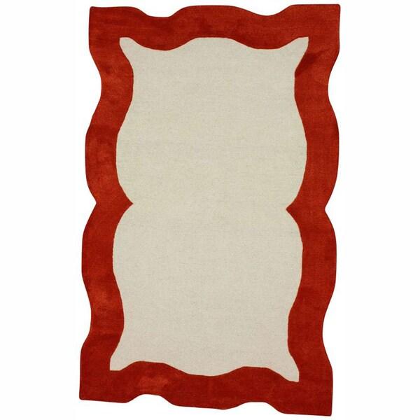 nuLOOM Handmade Carved Orange Rug (5' x 8')