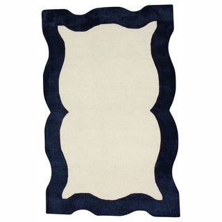 nuLOOM Handmade Carved Blue Rug (5' x 8')