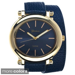 Geneva Platinum Women's Oval Case Wrap Watch
