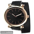 Geneva Platinum Women's Oval Case Wrap Watch
