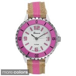 Geneva Platinum Women's Striped Watch