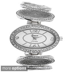 Geneva Platinum Women's Oval Bracelet Watch
