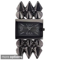 Geneva Platinum Women's Spiked-Strap Stretch Watch