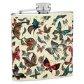 Top Shelf Flasks 6-Ounce Butterfly Hip Flask