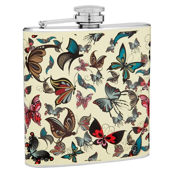 Top Shelf Flasks 6-Ounce Butterfly Hip Flask