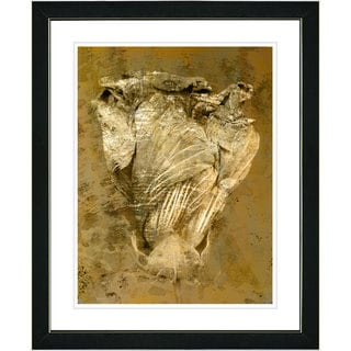 Studio Works Modern 'Dancing Bud - Sepia' Framed Art Print