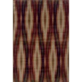 Abstract Brown/ Red Area Rug (7'10 x 10'10)
