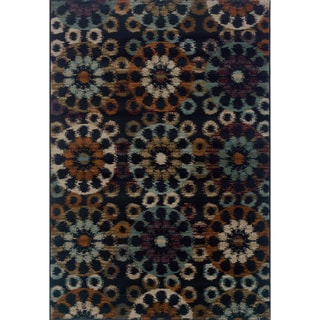 Floral Ikat Blue/ Multi Area Rug (7'10 x 10'10)
