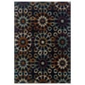 Floral Ikat Blue/ Multi Area Rug (5'3 x 7'6)