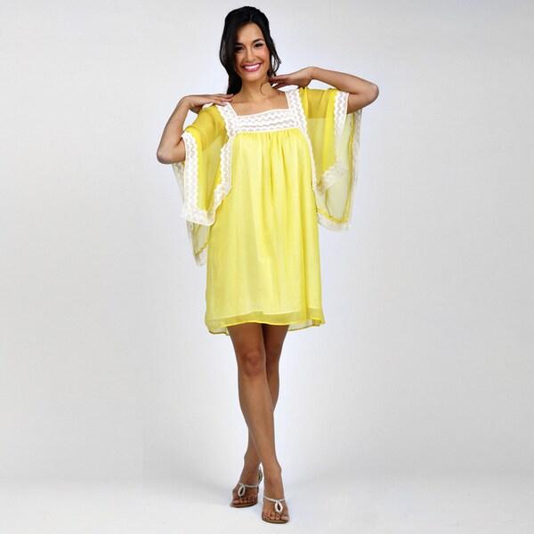 YELLOW MATERNITY DRESS - Mansene Ferele