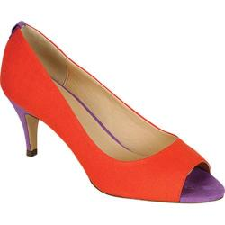 Women's Beston Carmen-01 Orange/Purple Canvas