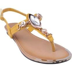 Women's Beston Jetta-07 Mustard Faux Leather