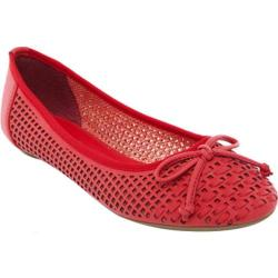 Women's Beston Lasonia M1263 Red Faux Leather